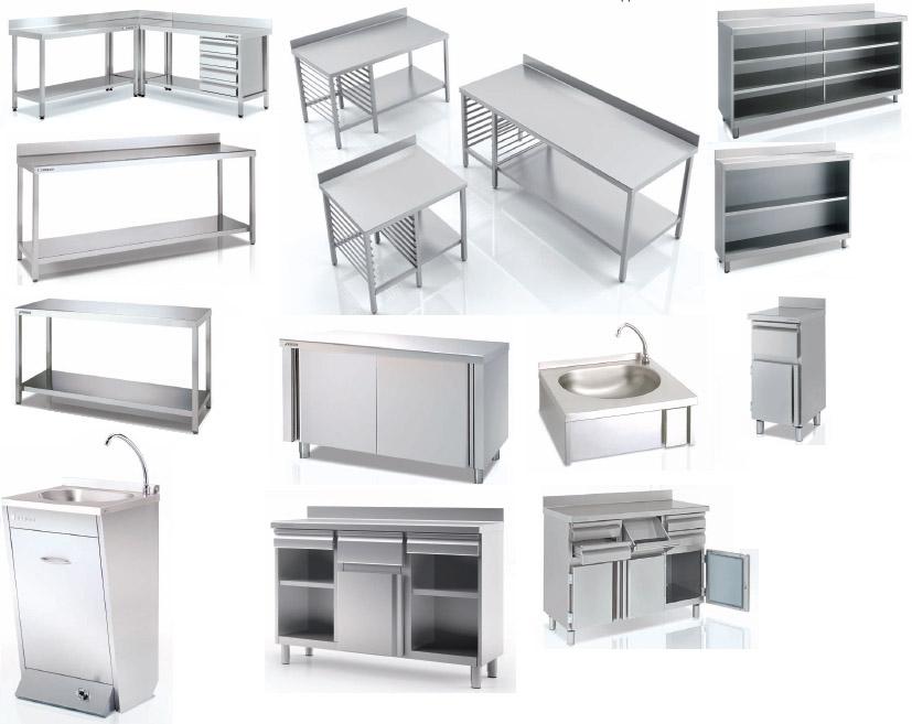 Muebles y mesas de trabajo en acero Inoxidable